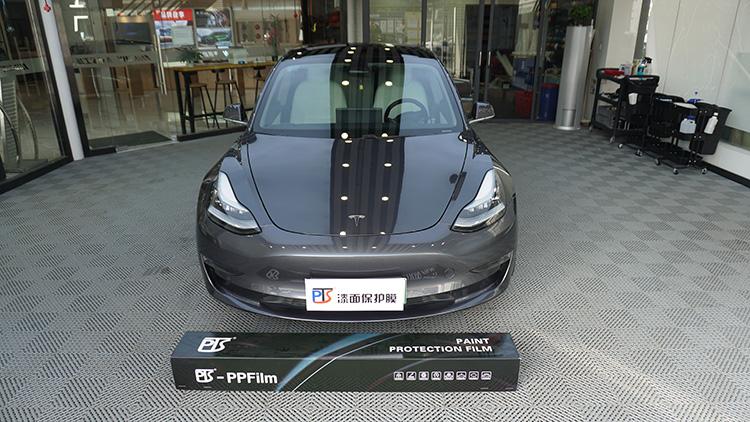 武汉汽车贴膜,特斯拉model 3贴PTS隐形车衣