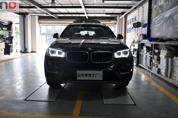 武汉宝马改装 宝马X6加装胎压监测+换轮胎