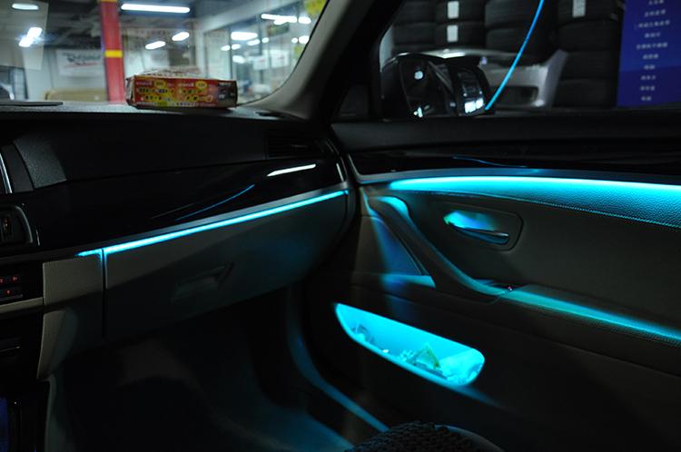 武汉宝马改装 宝马5系NBT主机、10.2寸大屏、手写旋钮、哈曼卡顿16件套、原厂行车记录仪、8色氛围灯